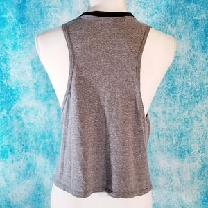 one clothing Tops - Good Vibes Only- Grey Crop Top by One Clothing